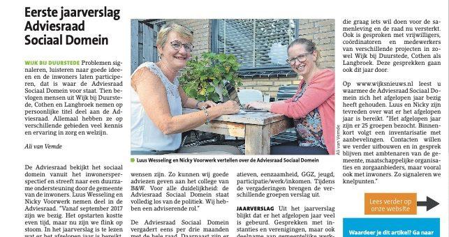 Interview Wijks Nieuws